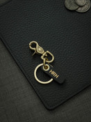 Bas and Lokes brass leather key fob