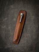"""Holmes"" Vintage Bourbon Leather Pen Sleeve"