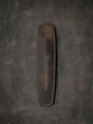 """Holmes"" Rustic Brown Oil Tan Leather Pen Sleeve"
