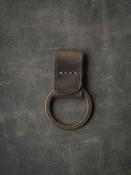 """Guardian"" Brown Oil Tan Handmade Leather Key Fob"