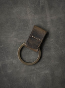 """Guardian"" Brown Oil Tan Handmade Leather Key Fob"
