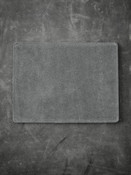 """Burton"" Light Grey Suede and Black Leather Reversible Valet Mat"