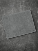 """Burton"" Light Grey Suede and Black Leather Valet Mat"