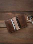 Russet Vintage Tan Leather Bi-Fold Wallet