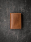 Vintage Bourbon Leather Bi-Fold Wallet