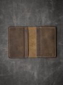 Brown Vintage Rustic Brown Oil Tan Leather Bi-Fold Wallet