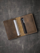 """Dean"" Brown Oil Tan Leather Wallet"