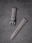 Bas and Lokes Grey Handcrafted Ostrich Leather Watch Strap