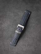 """Andretti"" Light Blue Ostrich Leather Watch Strap"