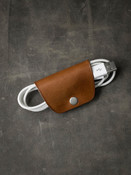 Leather cord and cable wrap