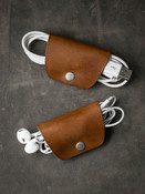 Bourbon Leather Cord  and Cable Wrap