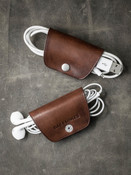 """Mason"" Vintage Russet Leather Cord Wrap"