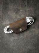 """Mason"" Rustic Brown Leather Cord Wrap"