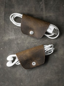 """Mason"" Rustic Brown Leather Cord Wrap"