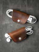 Cognac Leather Cord Wrap