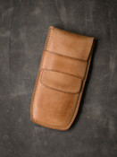 Bas and Lokes Vintage Natural Handcrafted Leather Watch Pouch