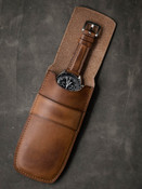 Bas and Lokes Vintage Bourbon Leather Watch Pouch Storage