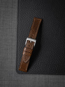 Textured Whiskey Leather Watch Strap
