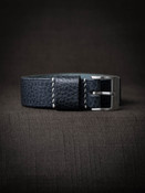 Blue Leather NATO Watch Strap