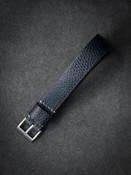 Blue Leather NATO Watch Strap