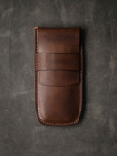 Bas and Lokes Vintage Russet Handcrafted Leather Pen Case