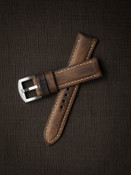 Rugged, Vintage Brown Leather Watch Strap