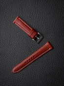 """""""Cole"""" Red Hot Leather Watch Strap"""