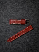 """""""Hughes"""" Red Hot Textured Leather Watch Strap"""