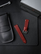 """""""Potter"""" Red Leather Watch Strap"""
