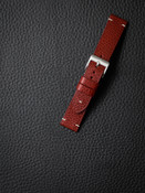 """Potter"" Red Leather Watch Strap"