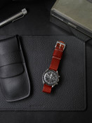 """Monaco"" Red Leather Watch Strap"