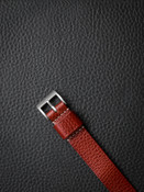 """""""Monaco"""" Red Leather Watch Strap"""
