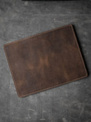 """Burton"" Camel Tan Suede and Brown Leather Valet Mat"