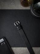 black leather nato strap