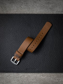Caramel Tan Leather NATO Strap