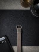 grey beige leather nato strap