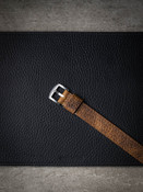 football tan leather nato watch strap
