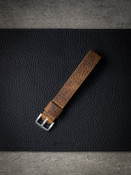 """Rocco"" Textured Football Tan Leather NATO Watch Strap - Limited Edition"