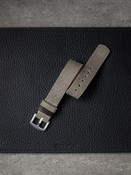 beige grey suede watch strap