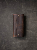 Burgundy Leather Watch Roll