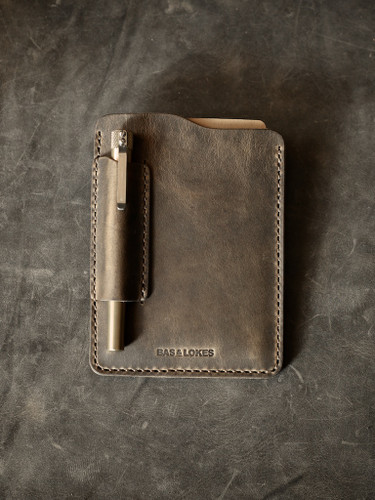 Vintage brown leather notebook sleeve