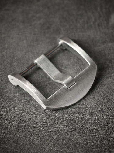 Brushed Screw-In Thumbnail Steel Watch Buckle