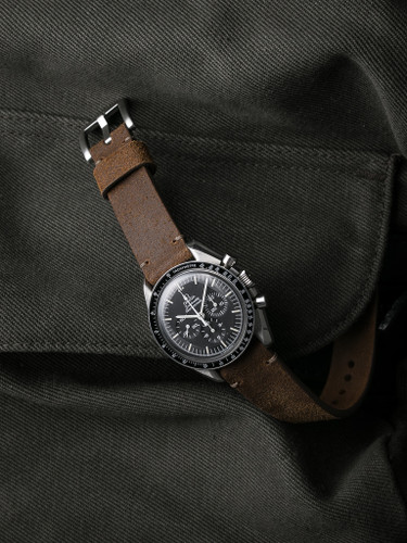 Bas and Lokes brown suede watch strap