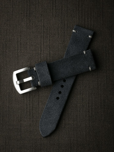 Bas and Lokes Blue Suede Watch Strap