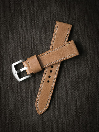 Bas and Lokes handcrafted natural leather watch strap