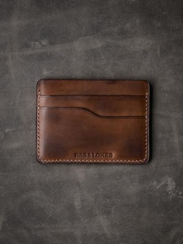 """""""Ford v2"""" Vintage Bourbon Tan Slim Leather Wallet"""