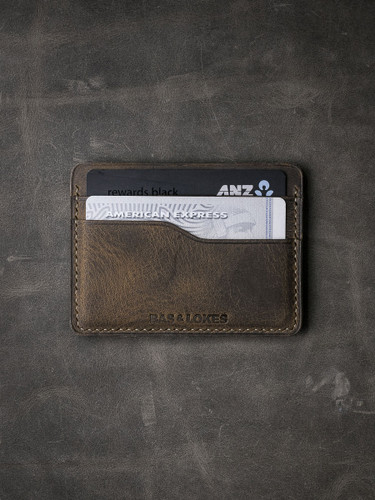 """Ford v2"" Brown Oil Tan Leather Slim Leather Wallet"