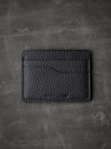 """""""Ford"""" Black handcrafted leather slim wallet"""