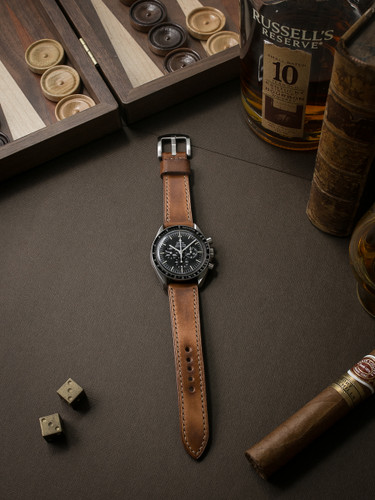 Bas and lokes vintage bourbon handcrafted leather watch strap