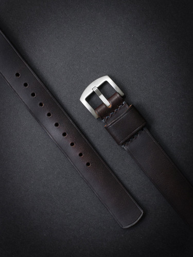 """Miles"" Burgundy Leather NATO Watch Strap"